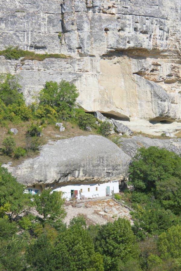 在克里米亚半岛半岛的山的原始的适应 库存照片