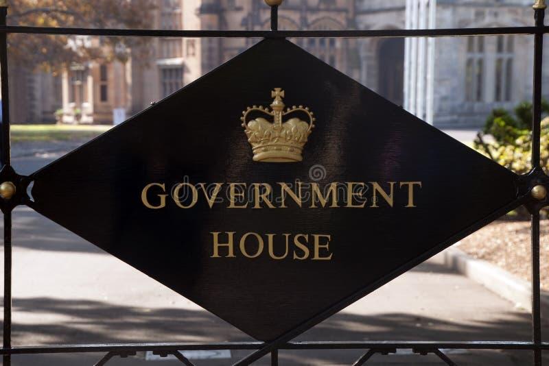 在入口的匾对NSW香港礼宾府 免版税库存照片