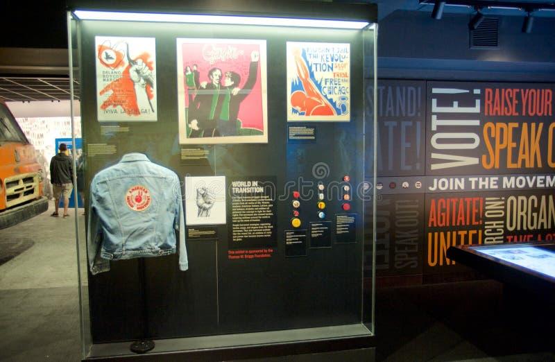 在全国民权博物馆里面的美洲印第安人运动展览洛林汽车旅馆的 免版税图库摄影