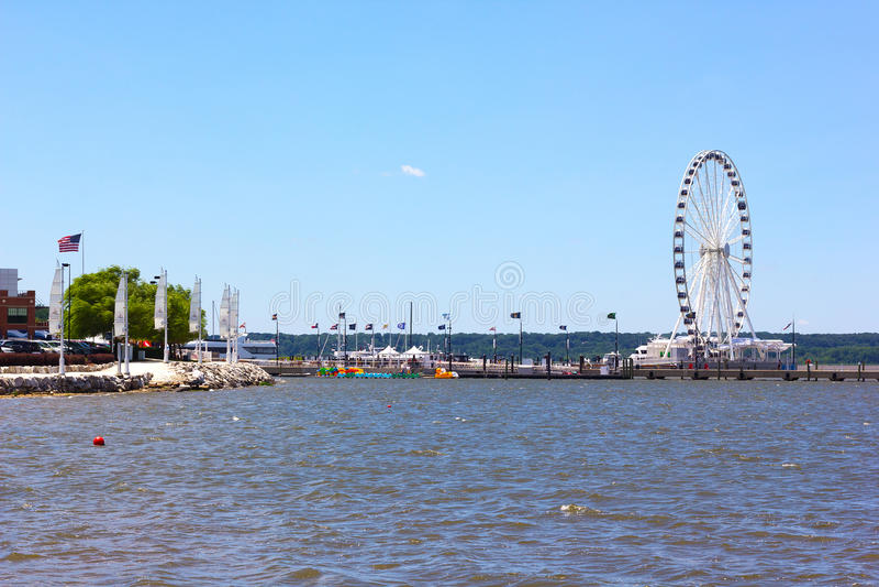 在全国港口滨水区发展的Veiw 免版税库存照片