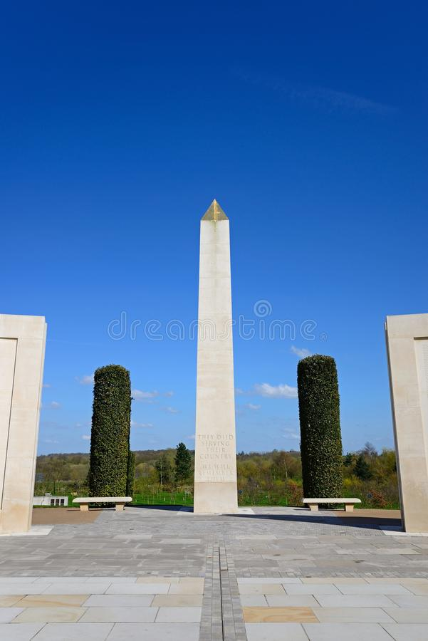 在全国纪念树木园的武力纪念纪念碑, Alrewas 库存照片