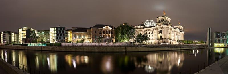 在全景reichstag河狂欢附近 库存照片