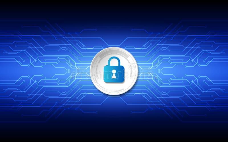 在全球网络背景, vecto的抽象技术安全 向量例证