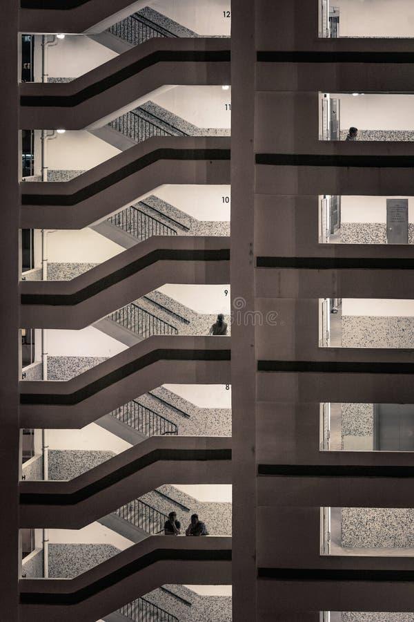 在公共住房,香港的楼梯 免版税库存照片
