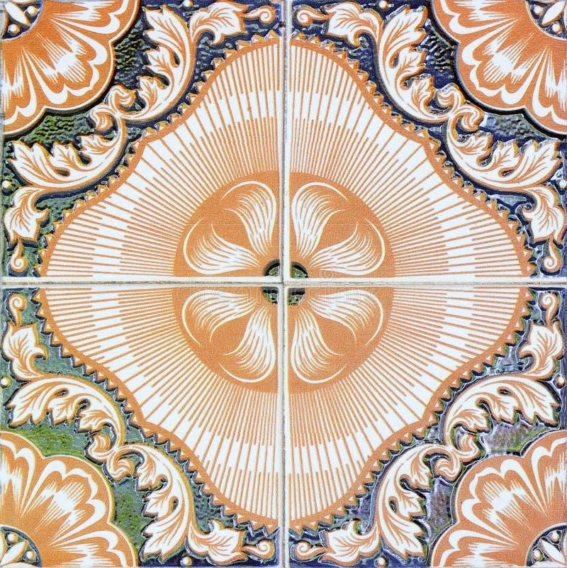 在公园公众的美好的陶瓷砖样式 库存例证
