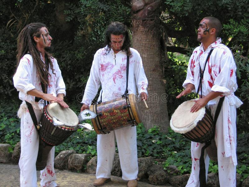 在公园口岸Aventura西班牙的音乐 免版税库存照片