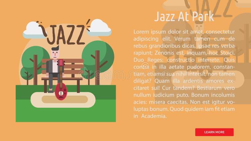 在公园概念性横幅的爵士乐 皇族释放例证