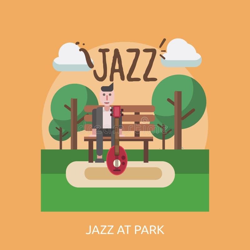 在公园概念设计的爵士乐 向量例证