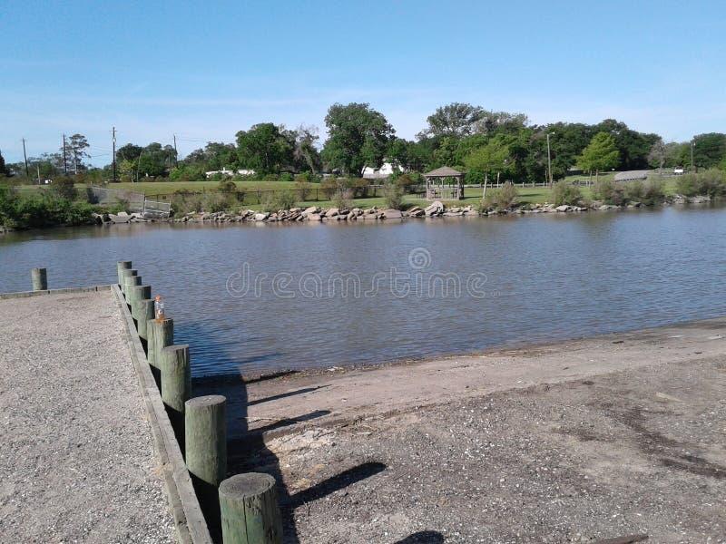 在公园的水 免版税库存图片