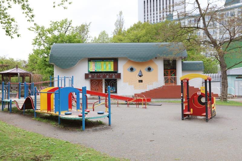 在公园研的戏剧 五颜六色的戏剧地面 库存图片