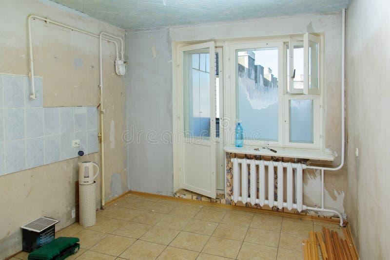 在公寓的修理 图库摄影