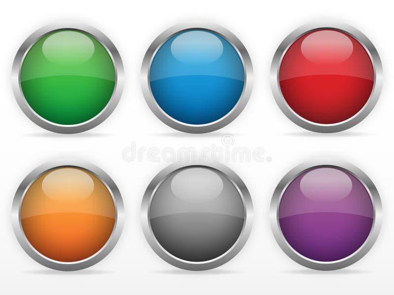 被设置的网按钮 皇族释放例证