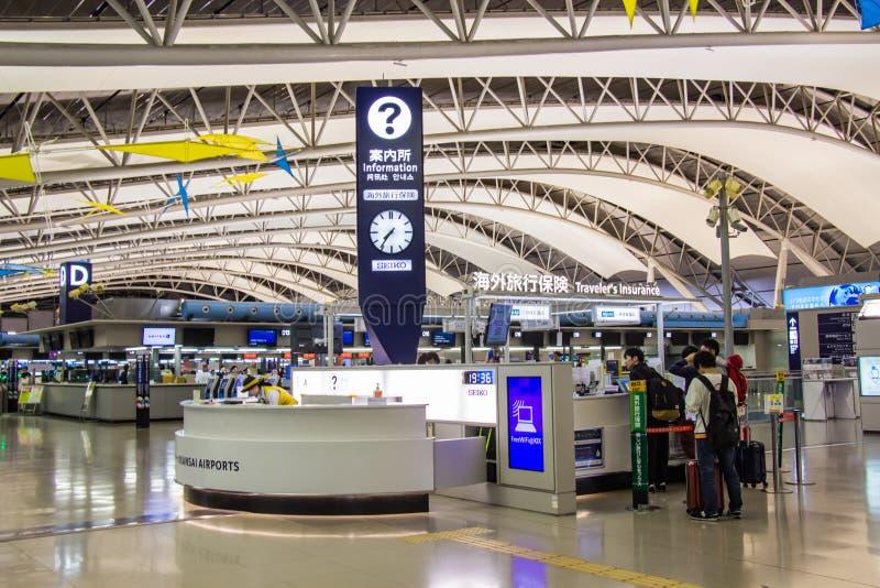在关西国际机场KIX里面的情报中心服务 库存照片