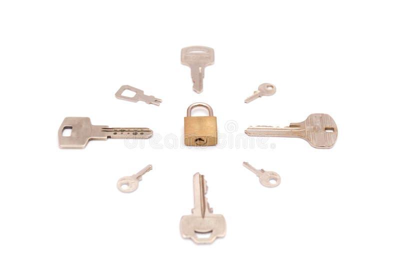 在关键字附近锁上锁定 图库摄影