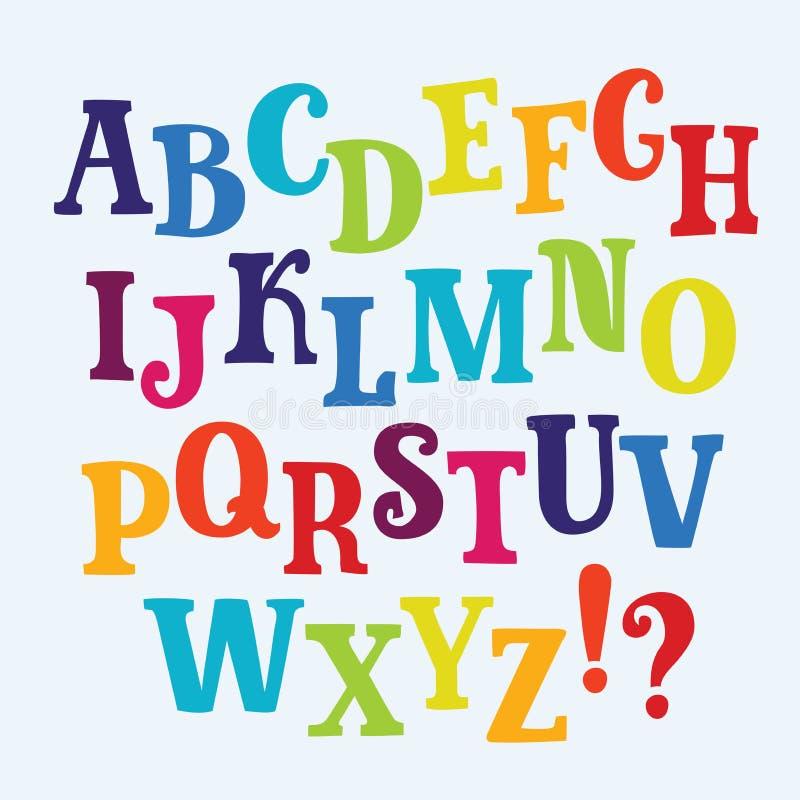在典雅的多色雕琢平面的样式的字母表商标 葡萄酒标签的,标题,海报传染媒介字体,拟订等 皇族释放例证