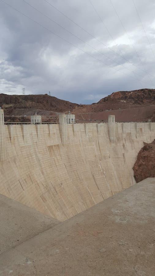 在内华达和亚利桑那,黑峡谷的边界的水力发电的发电器 免版税库存图片