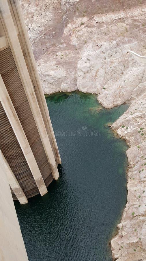 在内华达和亚利桑那,黑峡谷的边界的水力发电的发电器 库存照片
