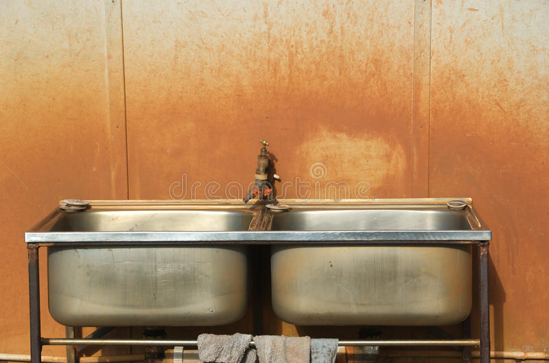 在内地水槽 免版税库存图片