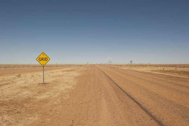 在内地遥控街道在昆士兰,澳大利亚 免版税库存照片