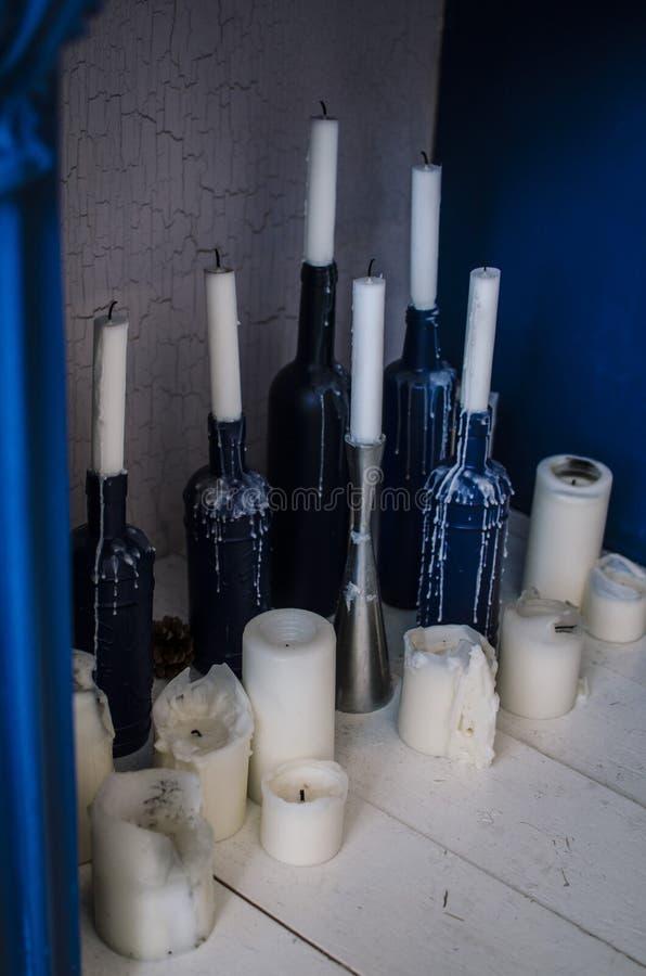在内部的蜡烛 库存图片