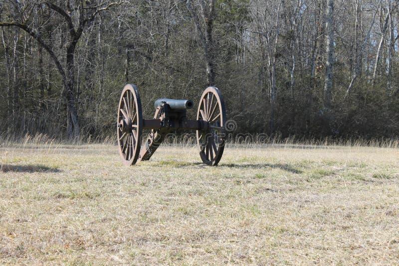 在军事公园的大炮 库存照片