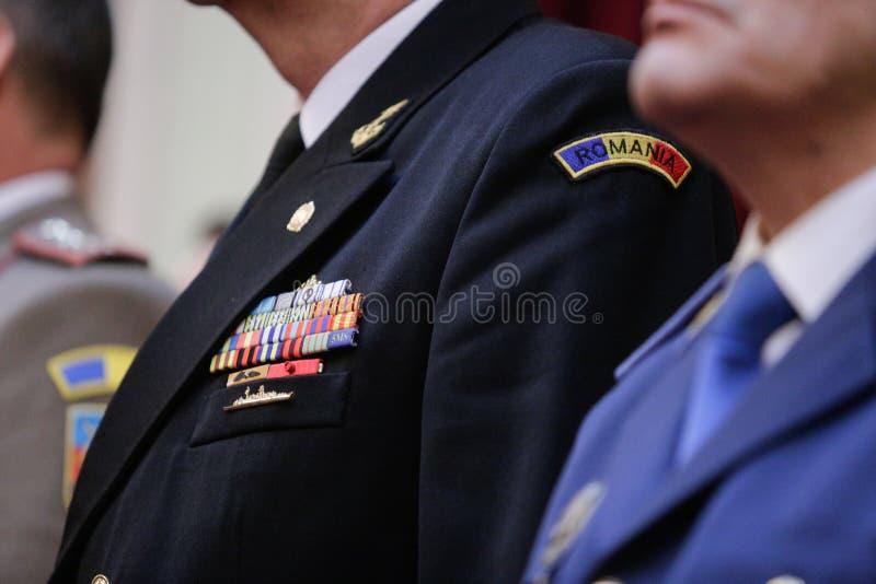在军服的军事权威 免版税库存照片