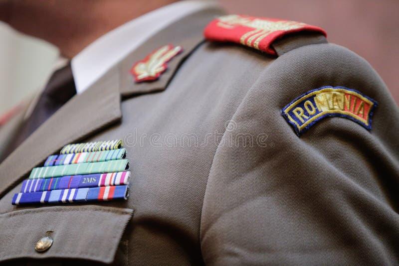 在军服的军事权威 库存图片