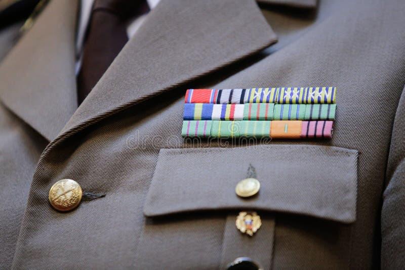 在军服的军事权威 免版税图库摄影