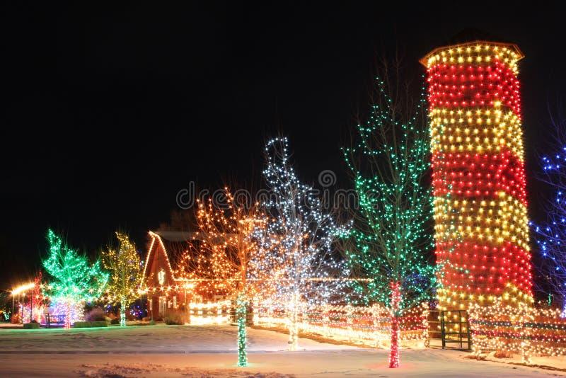 在农场的圣诞节 库存照片