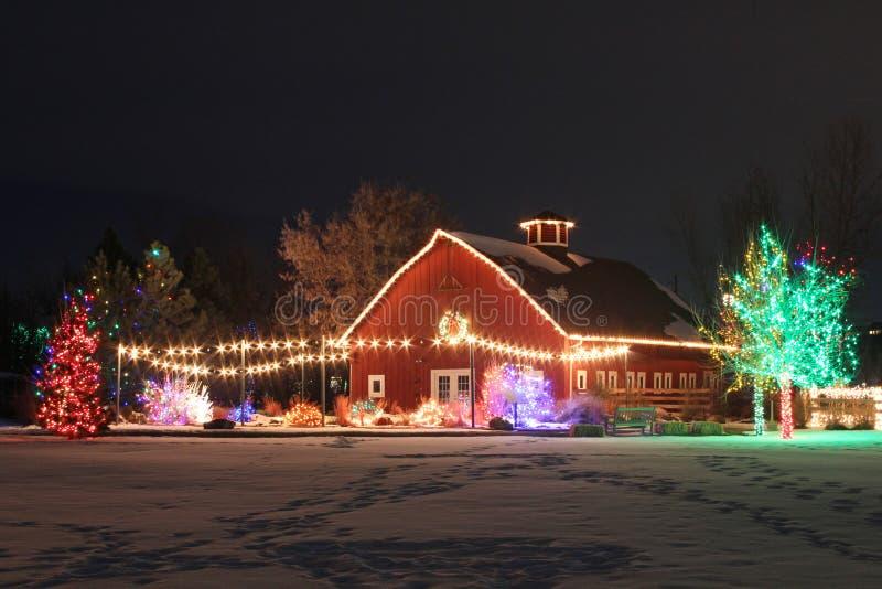 在农场的圣诞节 免版税图库摄影