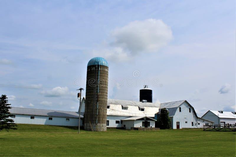 在农村玛隆,纽约,美国的农舍大厦 图库摄影