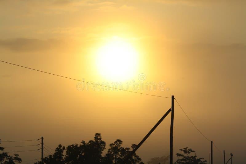 在农村非洲的日出 库存照片