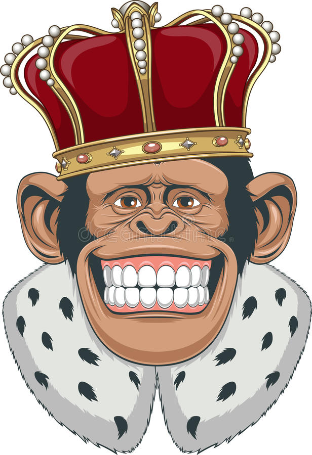 在冠的猴子 库存例证