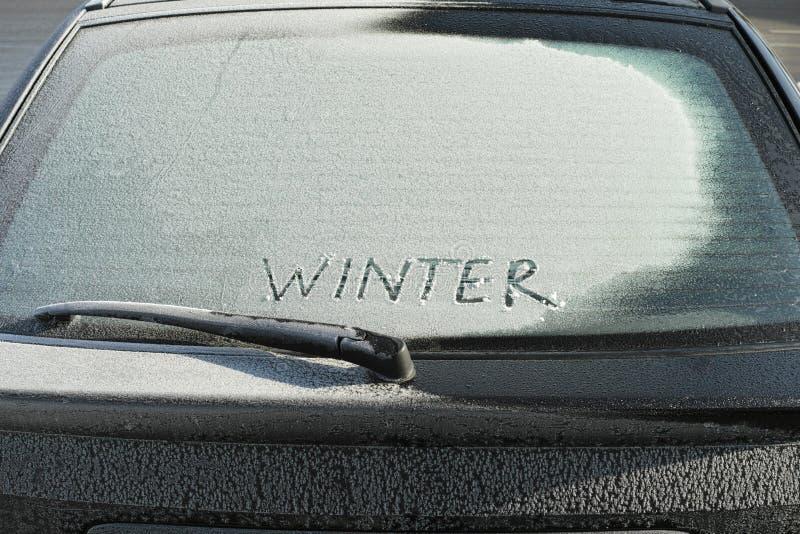 在冬天季节的冷的天 免版税库存照片