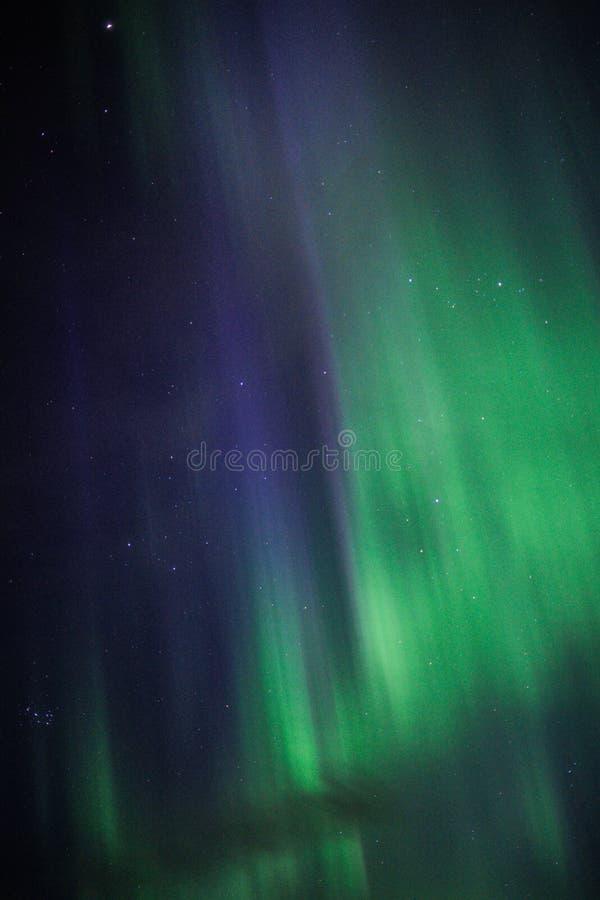 在冰岛上的北极光 图库摄影