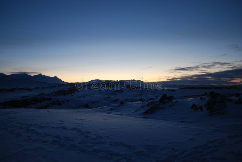 在冰岛的日落 库存图片