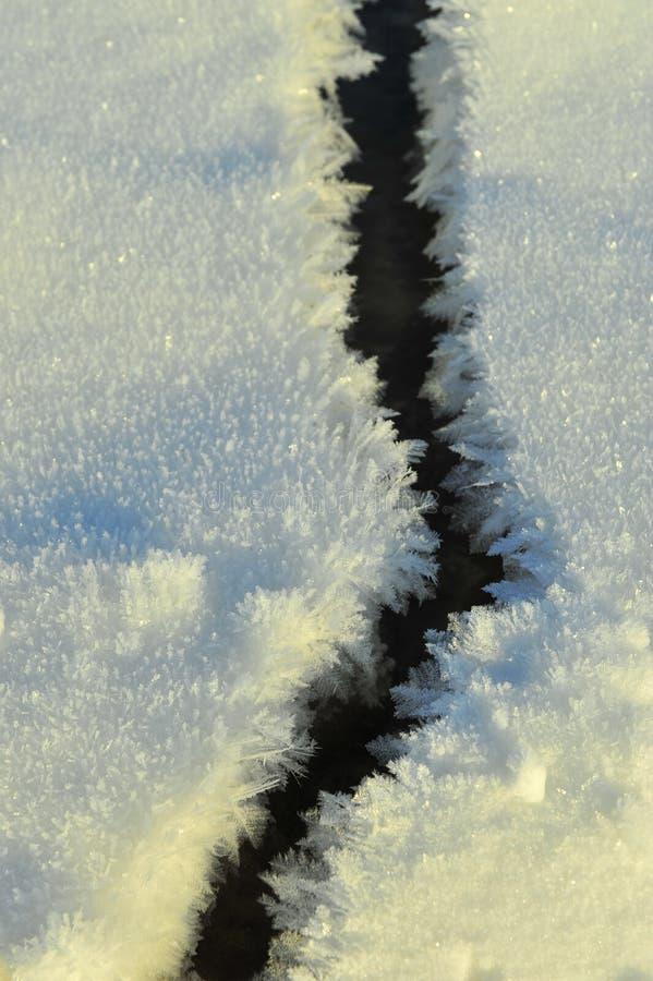 在冰的雪模式 免版税库存图片