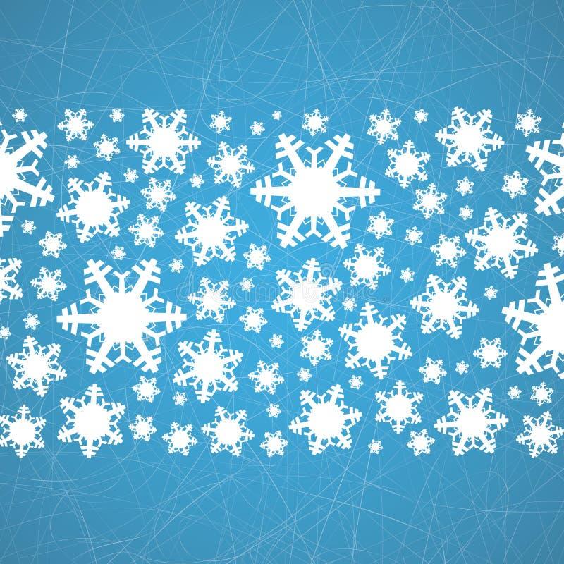在冰的雪花与犁沟 抽象空白背景圣诞节黑暗的装饰设计模式红色的星形 向量例证