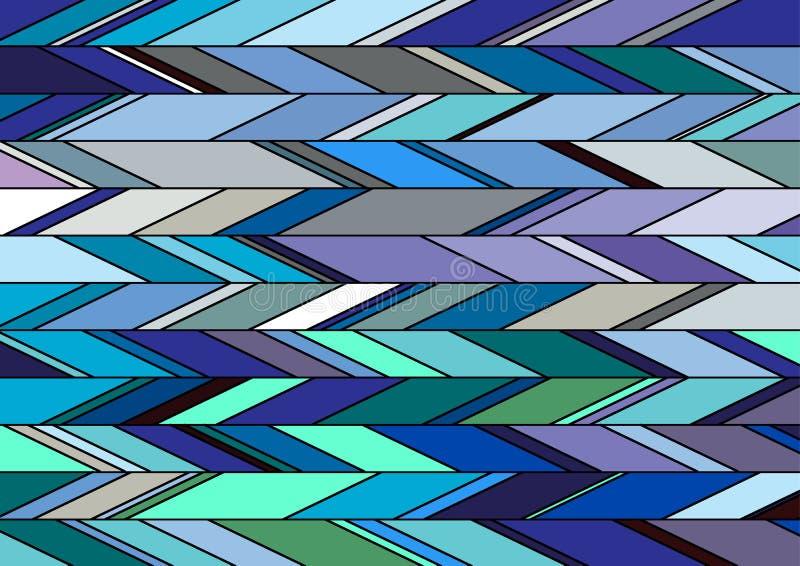 在冷的颜色样式的背景 免版税库存图片