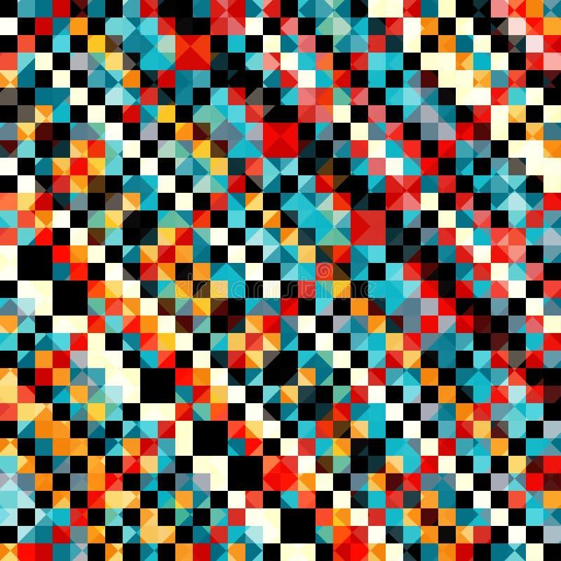 在减速火箭的样式传染媒介例证的色的映象点样式 皇族释放例证