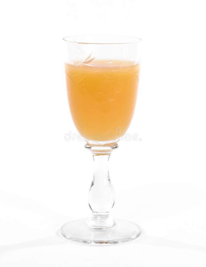 在减速火箭的样式白色的玻璃酒 免版税图库摄影
