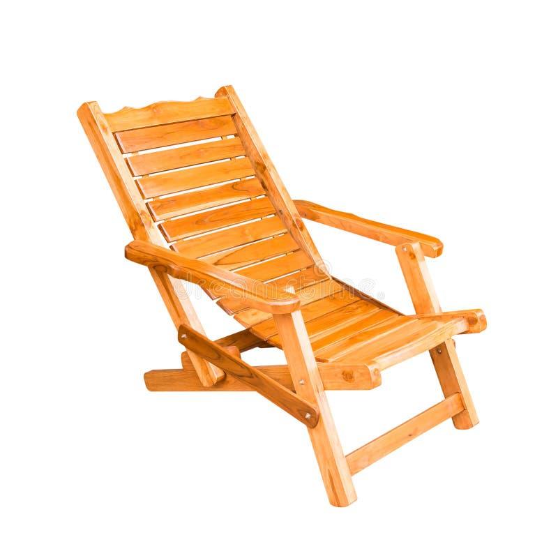 在减速火箭的样式的木轻便折叠躺椅 图库摄影