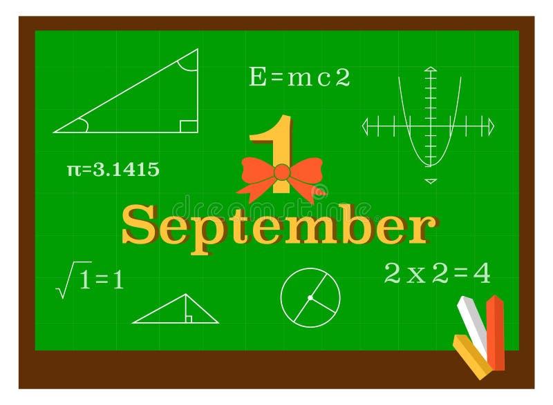在几何教训的一个校务委员会 免版税库存照片
