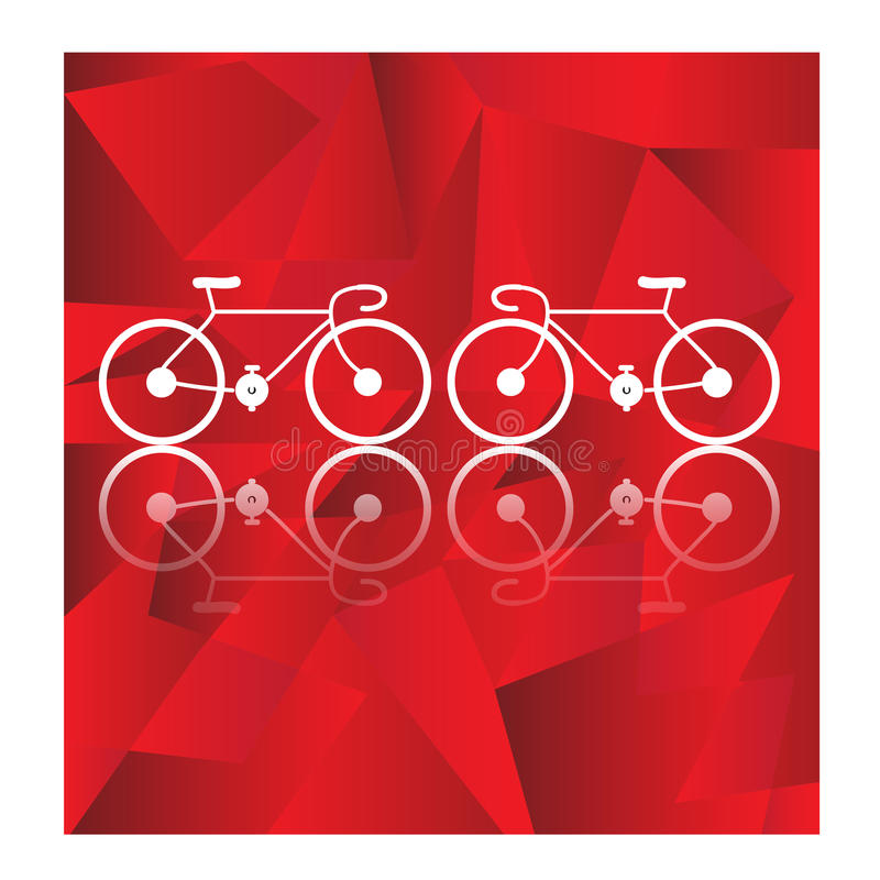 在几何背景的自行车传染媒介 向量例证