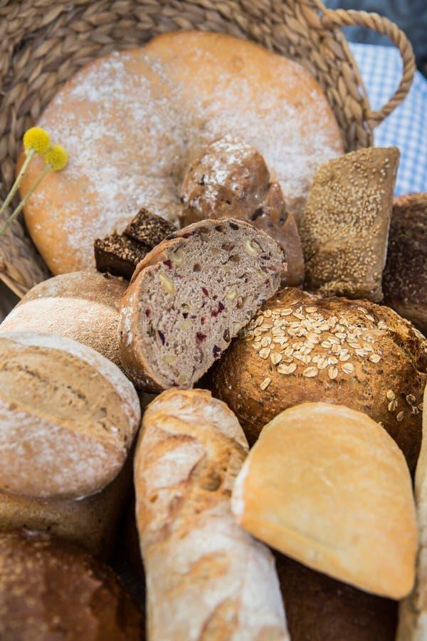 在几大小的不同的面包 库存图片