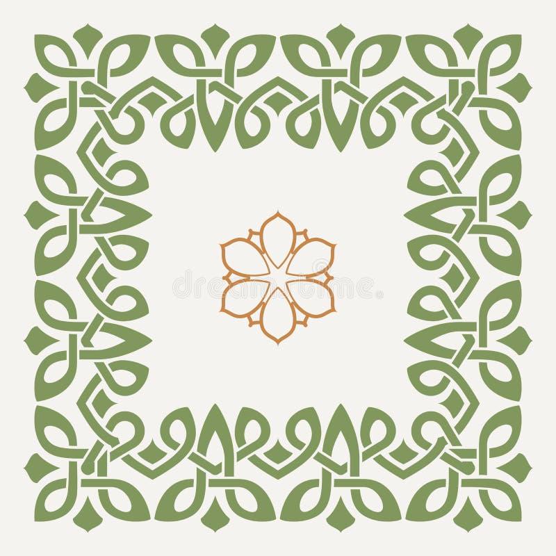 在凯尔特样式的传染媒介装饰框架 皇族释放例证