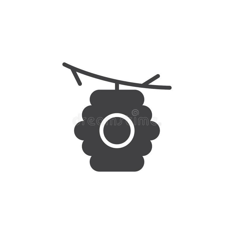 在分支传染媒介象的蜂房 库存例证
