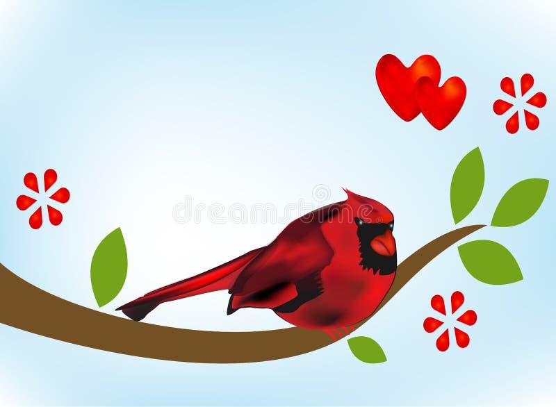 在分支树图象传染媒介模板的主要鸟 向量例证