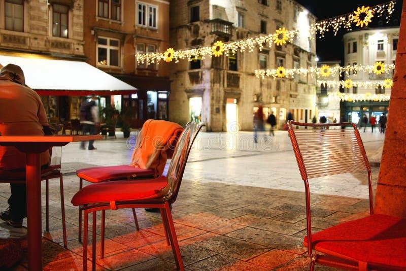在分裂的圣诞节atmospehere,克罗地亚 免版税库存图片
