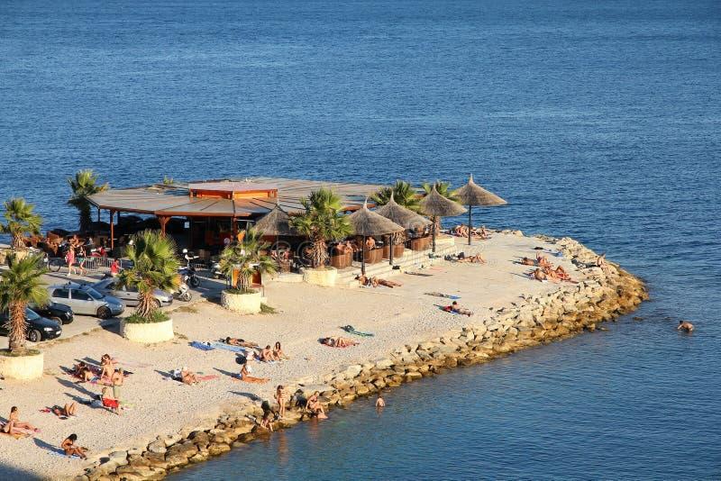 在分裂的海滩,克罗地亚 免版税库存图片